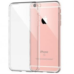 iPhone 5S/SE transparante hardcase + tempered glass