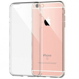 iPhone 7/8 Plus transparante hardcase + tempered glass