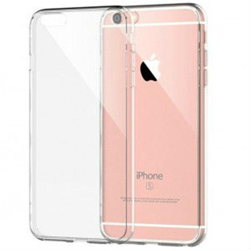 iPhone 7/8 Plus transparante hardcase + tempered glass