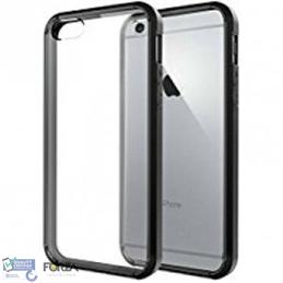 iPhone 7/8/SE 2020 zwarte softcase + tempered glass