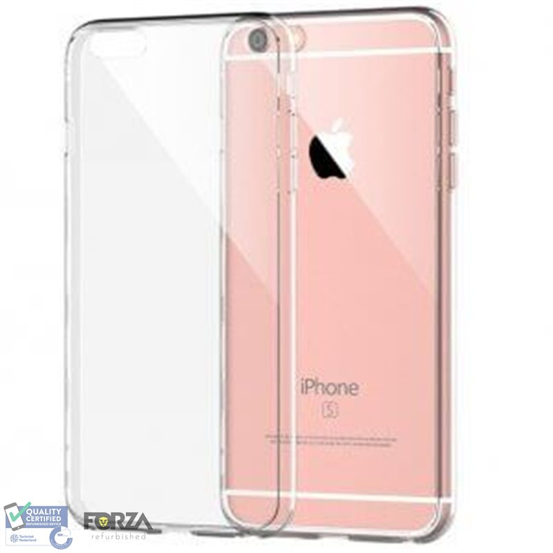 iPhone XR transparante hardcase + tempered glass